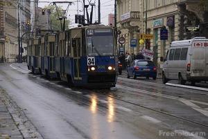 Tram in Krakow, Poland