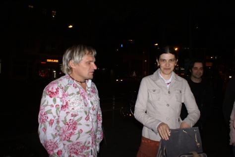 """Наталка і Олег Скрипки в Берліні, біля """"Русендиско"""" травень 2009"""