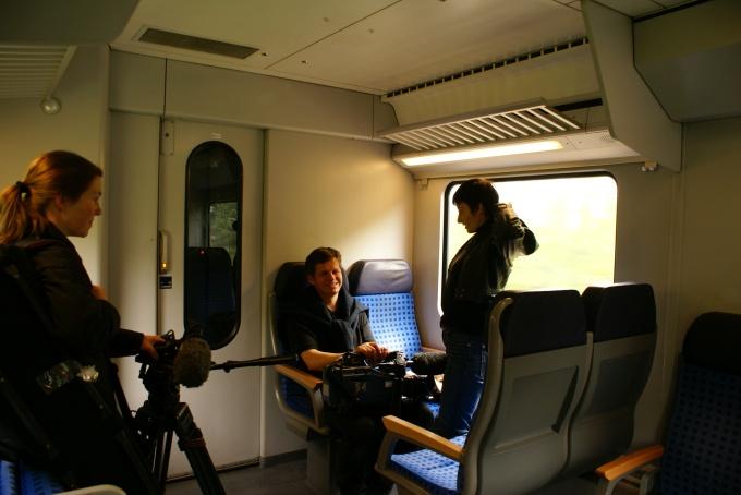 """На зйомках репортажу """"В тіні нелегальної робочої міграції"""", травень 2010, фото: Зоряна Самборська"""