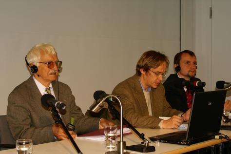 Виступ Євгена Сверстюка в Берліні на міжнародному літературному фестивалі, вересень 2010 року