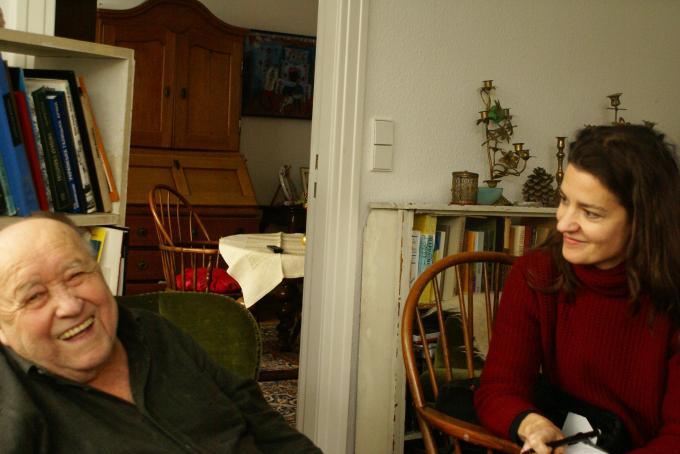 Богдан Осадчук (зліва) і Флоренс Мінері (Florence Minery), Берлін, 30.12. 2010