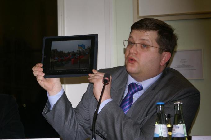Володимир Ар'єв, Берлін, 21.03.2011. Фото: Ольга Самборська