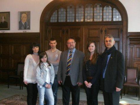 Члени делегації проекту та мер м. Хільден пан Horst Thiele